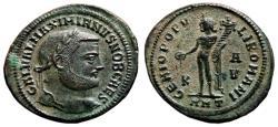 Ancient Coins - GALERIUS MAXIMIANUS AE Follis. EF+. Antioch mint. GENIO POPVLI ROMANI.