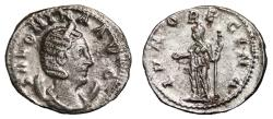 Ancient Coins - SALONINA Bi Antoninianus. EF-/EF. FULLY SILVERED. Rome mint. IVNO REGINA