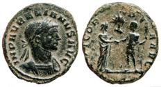 Ancient Coins - AURELIAN AE Sestertius. VF+/VF. CONCORDIA AVG. AD 275.