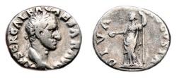 Ancient Coins - GALBA AR Denarius. VF+/VF. DIVA AVGVSTA. Very Scarce!