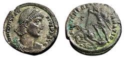 Ancient Coins - CONSTANTIUS II AE2 Maiorina (Centenonialis). EF-. Nicomedia mint. FEL TEMP REPARATIO.