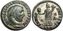 Ancient Coins - MAXIMINUS II DAIA Bi Follis. VF+. Partially SILVERED. Antioch mint. GENIO AVGVSTI
