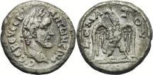 Ancient Coins - ANTONINUS PIUS AR (low grade) Tetradrachm. VF+. Eagle - Year 9.