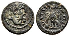 Ancient Coins - THYATEIRA (Lydia) AE14. EF-. Pseudo-autonomous issue. AD 193-211.