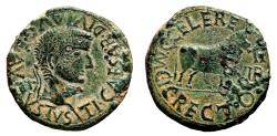 Ancient Coins - TIBERIUS AE As. EF-. C CELERE M C I RECTO - Bull.
