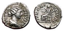 Ancient Coins - LUCILLA AR Denarius. VF+. IVNONI LVCINAE.