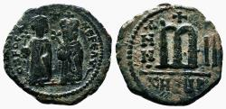 Ancient Coins - PHOCAS (with LEONTIA) AE Follis. EF-. Antioch (as Theopolis) mint. Year II.