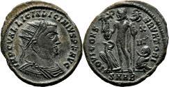 Ancient Coins - LICINIUS I AE Follis. EF+/EF. Heraclea mint. IOVI CONSERVATORI. Radiated Bust.