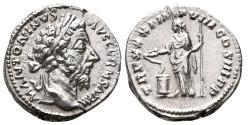 Ancient Coins - MARCUS AURELIUS AR Denarius. EF. Salus - TR P XXXI IMP VIII COS III P P.