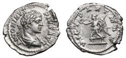 Ancient Coins - CARACALLA AR Denarius. EF/EF-. Victoria - VICT PART MAX. Scarce Reverse.