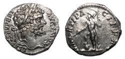 Ancient Coins - SEPTIMIUS SEVERUS AR Denarius. EF+/EF-. MARTI PACIFERO