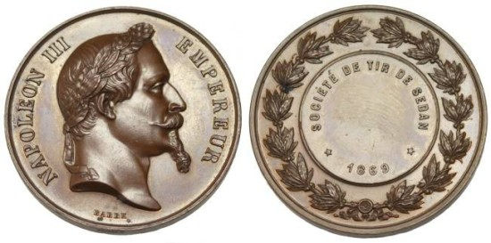 World Coins - France: Napoleon III Medal, 1869