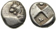 Ancient Coins - Thrace, Cherronesos AR Hemidrachm, 400 - 350 BC
