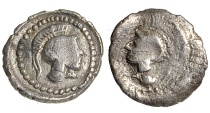 Ancient Coins - Cilicia, Holmi AR Trihemitartemorion, c. 380 BC