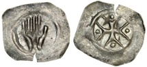 World Coins - Hall, Swabia, Germany AR Händleinheller, 1300-1375