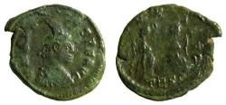 Ancient Coins - Roman Arcadius AE3 Double-Strike, 383 - 408 AD.
