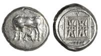 Ancient Coins - Illyria Dyrrhachion AR Stater, c. 340 - 280 BC