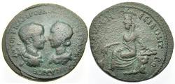 Ancient Coins - Gordian III & Tranquillina AE32. Nisibis, Mesopotamia. 238 - 244 AD