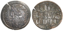 Ancient Coins - Hungary Bela III AE Dinar, 1172 - 1196 AD