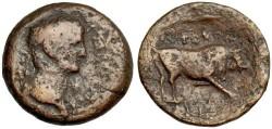 Ancient Coins - Egypt, Alexandria: Claudius, 41-54 AD, AE Diobol