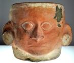Ancient Coins - Meso-American Moche Portrait Vessel Vase, circa 500-600 AD