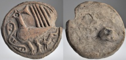 Ancient Coins - Terracotta Bread Stamp with Bird Design