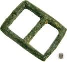 World Coins - English Bronze Buckle, 16th - 17 Centuries