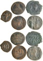 Ancient Coins - Lot of 5 Byzantines Bronze Folles