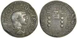 Ancient Coins - Philip I AE26, 244-249 AD, Antioch
