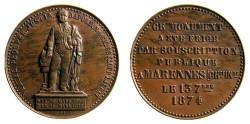 World Coins - France: Monument Subscription Medal, 1874