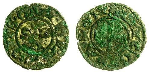 World Coins - Italy, Ancona Billon Denaro, 13th - 14th Centuries AD