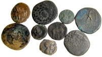 Ancient Coins - Lot of 9 Nice Greek Bronzes