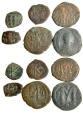 Ancient Coins - Lot of 6 Byzantines Bronzes, Folles and Half Folles