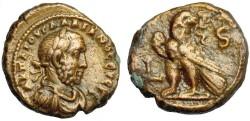 Ancient Coins - Egypt, Alexandria: Gallienus under Valerian I, 253-260 AD, AE Tetradrachm