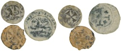 Ancient Coins - Lot of 3 Frankish Coins of Cyprus, 12th - 15th Century AD