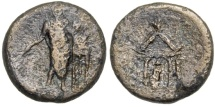 Ancient Coins - Pamphylia, Pergeia AE19, 2nd - 1st Century BC