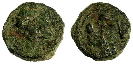 World Coins - Sicily Under The Normans, William II AE Follaro, Messina, 1166 - 1189 AD