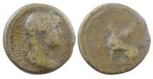 Ancient Coins - Hadrian AE As, Struck 125-128 AD, Rome Mint, Scarce