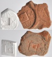 Ancient Coins - Large 50 Cash Coin Terracotta Molds, Obverse and Reverse, 7-14 AD