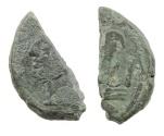 Ancient Coins - Roman Republic, AT or TA, 169-158 BCE, AE As CUT, Rome Mint