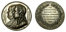 Ancient Coins - France: Franklin and Montyon Society Subscription Medal, 1833