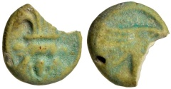 Ancient Coins - Faience Amulet With Bes and Eye of Horus, XXIII Dynasty to Roman Period