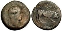 Claudius AE Diobol, Egypt, Alexandria, 41 - 54 AD