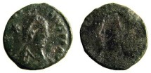 Roman Arcadius AE3 Brockage, 383 - 408 AD.