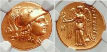 Ancient Coins - ALEXANDER III the GREAT 323BC Gold Stater  NGC Ch AU
