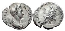 Ancient Coins - PLOTINA wife of TRAJAN 112 AD Rome Silver Roman Denarius