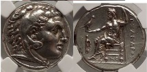 Ancient Coins - CORINTHIA, CORINTH. Alexander III the Great, NGC Certifed XF*, 5/5; 5/5; Fine Style. Heracles / Zeus