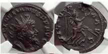Ancient Coins - Laelianus 269 A.D. Rare Gallic Empire Antoninianus NGC Certified Ch XF Roman Coin
