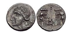 Ancient Coins - Bellum Sociale THE SOCIAL War 90BC Silver Denarius Roman Coin EX BRITISH MUSEUM