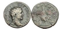 Ancient Coins - CARACALLA, Rome, 211 A.D. Bronze As. Emperor sacrifising over altar.